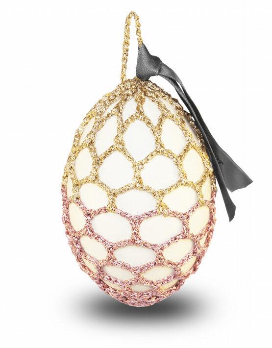 Glamour Osterei – Rosa-Gold